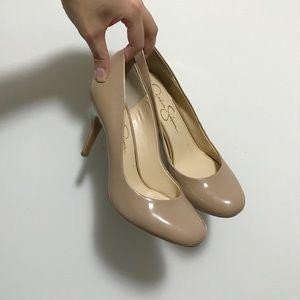 Jessica Simpson Patent Nude Heels